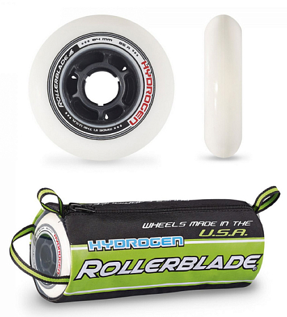 Комплект колёс Rollerblade WHEELS HYDROGEN 84mm/85A  (диаметр/жесткость)
