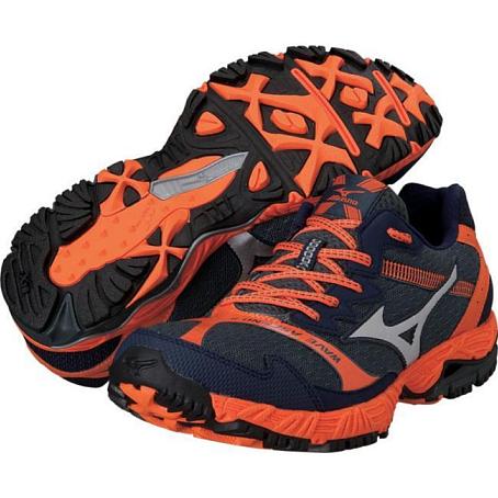 Купить Беговые кроссовки для XC Mizuno 2014 Wave Ascend 8 т.сер/сереб/оранж Кроссовки бега 1136380