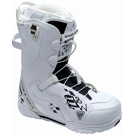 Купить Ботинки для сноуборда Black Fire 2015-16 B&W 2QL white, сноуборда, 1190733