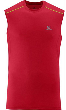 Майка беговая SALOMON 2014 TRAIL RUNNER TANK M VICTORYRED