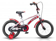 ВелосипедДо 6 лет (колеса 12-18)<br>Велосипед, предназначенный для детей в возрасте от 3.5 до 6 лет. Технические особенности: прочная стильная стальная рама, жесткая стальная вилка, ножной педальный задний тормоз, отличающийся наибольшей простотой в использовании и надежностью, передний ручной тормоз, высокий руль с накладкой, короткие крылья, звонок.<br><br>&amp;nbsp;&amp;nbsp;Диаметр колес - 16 дюймов, вес - 11.6 кг.<br>Рама:&amp;nbsp;&amp;nbsp;&amp;nbsp;&amp;nbsp;сталь<br>Количество скоростей:&amp;nbsp;&amp;nbsp;&amp;nbsp;&amp;nbsp;1<br>Тормоза:&amp;nbsp;&amp;nbsp;&amp;nbsp;&amp;nbsp;передний: ручной клещевой, задний: ножной<br><br>Пол: Унисекс<br>Возраст: Детский