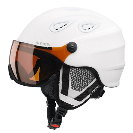 Купить Зимний Шлем Alpina GRAP Visor HM white matt Шлемы для горных лыж/сноубордов 1279939