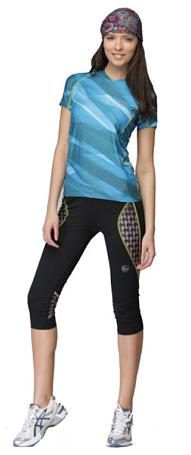 Купить Футболка беговая BUFF T-SHIRT S.SL. ALINE (DEEPTEAL) голубой/синий Одежда для бега и фитнеса 759437
