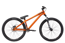 ВелосипедBMX<br>Трюковый велосипед для любителей экстрима<br> <br> <br> Особенности:<br> <br> - рама велосипеда изготовлена из легкого и прочного алюминиевого сплава, благодаря чему велосипед имеет небольшой вес и выдерживает значительные нагрузки<br> - дисковые механические тормоза<br> <br> <br> &amp;nbsp;Технические характеристики:<br> <br> Рама: Alloy-6061&amp;nbsp;<br> Размер рамы: &amp;nbsp;14<br> Вилка: RST Dirt T, ход 80 мм<br> Тип вилки: пружинная<br> Диаметр колес: 26<br> Кол-во скоростей: 7<br> Переключатель задний : Shimano Acera<br> Переключатель передний: -<br> Шифтеры: Shimano SL-M310<br> Тип тормозов: дисковый механический<br> Тормоза: Bengal MB 606, диаметр ротора 160 мм<br> Система: Truvativ Ruktion 1.0, 34T<br> Кассета: Shimano CS-HG20-7, 12-28T<br> Покрышки: Kenda K1052, 26 x 2,10<br>