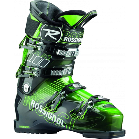 Горнолыжные ботинки ROSSIGNOL 2014-15 ALL MOUNTAIN ALIAS SENSOR 100 - GREEN TRANS
