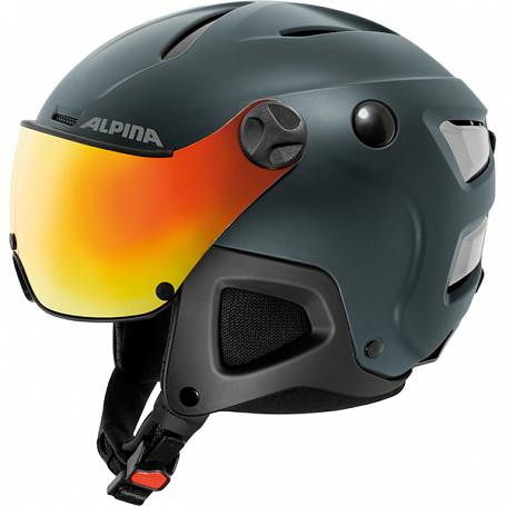 Купить Зимний Шлем Alpina ATTELAS Visor QVM nightblue matt Шлемы для горных лыж/сноубордов 1314489