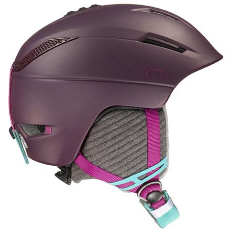 Купить Зимний Шлем SALOMON 2016-17 HELMET ICON Pinot Noir Шлемы для горных лыж/сноубордов 1287390