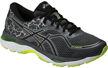 Беговые кроссовки элит Asics 2018 Gel-Cumulus 19 Lite-Show Carbon/Yellow/Black
