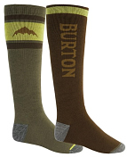 Носки BURTON 2020-21 Weekend Midweight Sock 2-Pack Martini Olive/Keef