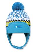 ШапкаГоловные уборы<br>Тёплая детская шапка-ушанка с помпоном. Сохраняет тепло и защищает от ветра. Застёжка под подбородком для большего комфорта. Внешний слой: 50% мериносовая шерсть, 50% акрил. Внутри подкладка из плотного флиса.<br>Размеры: XS(42-46 см.), S(46-50 см.)<br><br>Пол: Унисекс<br>Возраст: Детский<br>Вид: ушанка
