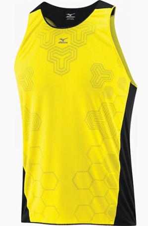 Купить Майка беговая Mizuno 2013 DryLite Prem Singlet Blazing Yellow/Black, Одежда для бега и фитнеса, 901818