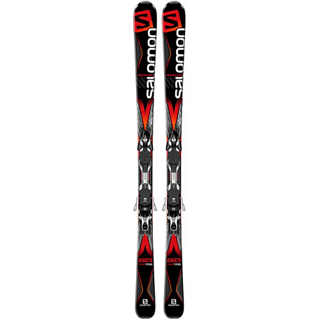 Купить Горные лыжи с креплениями SALOMON 2015-16 M X-DRIVE 8.0+MXT10 C90 BK/RD 1195698