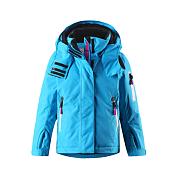 Куртка горнолыжнаяДетская куртка для занятий зимними видами спорта и прогулок<br> <br> -швы проклеены<br> -ветро- и водонепроницаема<br> -подкладка из полиэстера<br> -съемный капюшон&amp;nbsp;<br> -регулируемые манжеты и внутренние манжеты из лайкры<br> -снегозащитная юбка<br> -карманы на молнии, карман на рукаве с пластинчатым разъемом для датчика ReimaGO<br> -карман для очков и внутренний нагрудный карман<br> -100% ПЭ, ПУ-покрытие<br> <br><br>Возраст: Детский