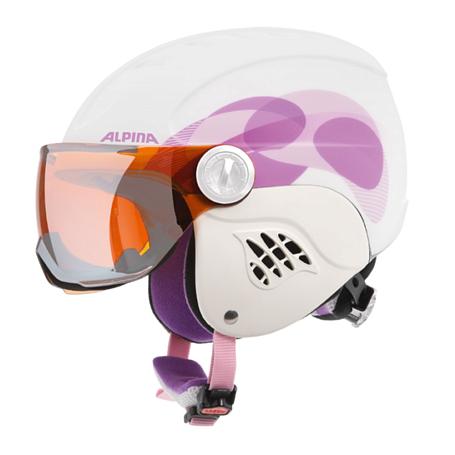 Купить Зимний Шлем Alpina CARAT L.E. VISOR HM white-pink clouds matt Шлемы для горных лыж/сноубордов 1225764