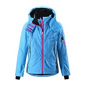 Куртка горнолыжнаяОдежда детская<br>Зимняя куртка для прогулок и занятий спортом<br> <br> -швы проклеены и не пропускают влагу<br> -Водо- и ветронепроницаемый, ?дышащий? и грязеотталкивающий материал<br> -Крой для девочек<br> -подкладка из полиэстра<br> -Безопасный, отстегивающийся и регулируемый капюшон<br> -Регулируемые манжеты и внутренние манжеты из лайкры<br> -Регулируемый подол, снегозащитный манжет на талии<br> -Новая усовершенствованная молния ? больше не застревает!<br> -Молнии контрастного цвета<br> -Карманы на молнии, карман для skipass на рукаве<br> -Карман для очков и внутренний нагрудный карман<br> -100% полиэстер, полиуретановое покрытие