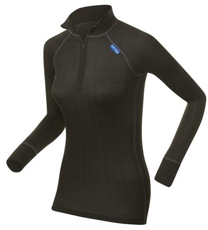 Купить Футболка с длинным рукавом Bjorn Daehlie Half Zip PURE Women Black (черный) Одежда лыжная 860080