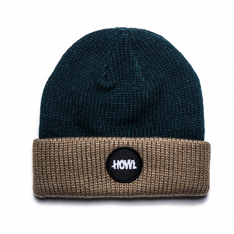 Шапка HOWL 2015-16 CIRCLE PATCH BEANIE HOWL TEAL