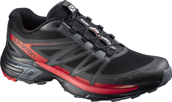 Беговые кроссовки для XC SALOMON 2017 SHOES WINGS PRO 2 BLACK/CLD/RADIANT.R