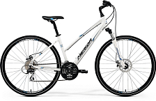 Велосипед MERIDA Crossway 20D-Lady 2017 White - Blue/Black