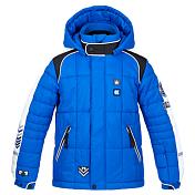 Куртка горнолыжнаяОдежда горнолыжная<br>Модная детская куртка создана для катания на лыжах/сноуборде/тюбингах или прогулок в парке/на детской площадке. Она утепленная, не промокает, не продувается и оснащена всем необходимым для занятий зимними видами спорта или для игр на свежем воздухе. Украшена яркими нашивками, аппликациями и светоотражающими элементами.<br><br><br>• Внешний материал: 100% нейлон.<br>• Внешняя ткань обработана водоотталкивающей пропиткой DWR (Durable Water Repellent) для усиления водоотталкивающих свойств.<br>• Мембрана: Hipora.<br>• Водонепроницаемость: 8000 мм.<br>• Воздухопроницаемость: 8000 гр./м2/24 часа.<br>• Утеплитель/Подкладка.<br>• Теплый съемный капюшон регулируется по объему.<br>• Воротник высокий с мягкой защитой подбородка от соприкосновения с замком.<br>• Внутренний флисовый воротничок.<br>• Центральная молния с внешней ветрозащитной планкой на кнопках и липучках.<br>• Два кармана на груди.<br>• Кармашек на рукаве для ски-пасса.<br>• Манжеты на резинках регулируются кнопками.<br>• Внутренние эластичные манжеты предотвращают попадание холодного воздуха.<br>• Брелок со свистком, компасом и термометром.<br>• Объем талии регулируется.<br>• Снегозащитная юбка.<br>• Нижний край/подол куртки регулируется по объему.<br>• Покрой: стандартный.<br>• Логотип: PoivreBlanc.<br><br>Сезон: 15-16Пол: Для детей и подростковНаличие мембраны: С мембраной<br><br>Пол: Мужской<br>Возраст: Детский<br>Вид: куртка