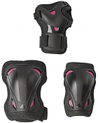 Комплект защиты Rollerblade 2021 Skate Gear W 3 Pack Black/Raspberry