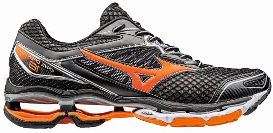 Купить Беговые кроссовки элит Mizuno 2017 Wave Creation 18 черный/оранжевый/серебряный / Кроссовки для бега 1334605