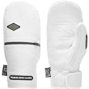 Варежки BONUS GLOVES 2018-19 LEATHER WHITE Белый