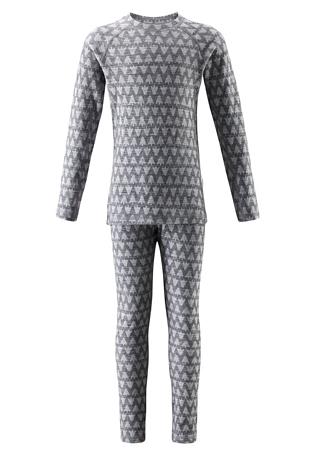 Купить Комплект (футболка дл.рук. + брюки) Reima 2017-18 Taival Melange grey Детская одежда 1351763