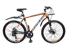 ВелосипедКолеса 27,5<br>Горный велосипед Stels Navigator 710 Disc 27.5 2014. Велосипед оснащён алюминиевой рамой. Установленны пружинно-эластомерная вилка XCM, SR SUNTOUR, ход 100мм, дисковые механические тормоза, а также полупрофессиональное оборудование. Stels Navigator 710 Disc 27.5 2014 прекрасно подойдёт для катания как в городе, так и по пересечённой местности.<br> <br> Рама и амортизаторы<br> <br> Рама: алюминий, суперлегкий X6<br> Вилка: XCM, SR SUNTOUR, ход 100мм<br> <br> Цепная передача<br> <br> Манетки: ST-EF51, SHIMANO, Tourney<br> Передний переключатель: FD-TX51, SHIMANO, Tourney<br> Задний переключатель: RD-TX35, SHIMANO, Tourney<br> Шатуны: PROWHEEL, сталь, 28/38/48 зубьев<br> Каретка: CHINHUAR, картридж<br> Количество скоростей: 21<br> Педали: пластик<br> <br> Колеса<br> <br> Обода: U28, WEINMANN, алюминий, двойные<br> Bтулка: KT, алюминий<br> Покрышка: H-5161, CHAOYANG, 27,5x2.0 30 TPI<br> <br> Компоненты<br> <br> Передний тормоз: NOVELA, TEKTRO, механический, ротор 180мм<br> Задний тормоз: NOVELA, TEKTRO, механический, ротор 180мм<br> Рулевая колонка: NECO<br> Седло: Cionlli<br><br>Пол: Унисекс<br>Возраст: Взрослый