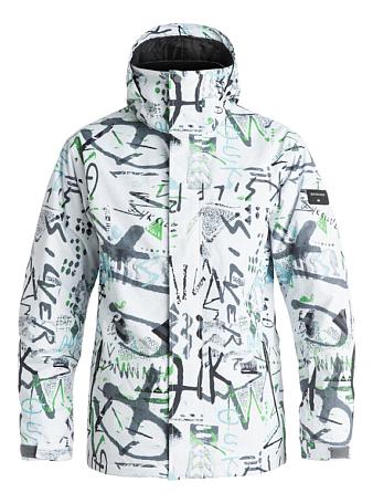 Купить Куртка сноубордическая Quiksilver 2016-17 Mission Print J M SNJT WBB7, Одежда сноубордическая, 1279575