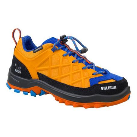 Купить Ботинки для треккинга (низкие) Salewa 2017 JR WILDFIRE WATERPROOF Arancio/Davos, Треккинговая обувь, 1330032