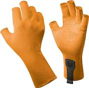 Перчатки рыболовныеПерчатки, варежки<br><br>Технологичные рыболовные перчатки с фактором защиты от солнца UPF 50+, прекрасно дышат.<br>Выполнены из прочной стрейтчевой ткани. Повторяют все изгибы кисти. Ладонь перчатки покрыта силиконовым принтом.<br>Пальцы перчатки отрезаны на 3/4.<br>Удлиненная манжета.<br>Состав: 95% нейлон, 5% лайкра; принт на ладони: 100% силикон, трикотаж<br>