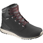 Ботинки городские (высокие) Salomon 2018-19 UTILITY WINTER CS WP Black/Black/Rd Dahlia