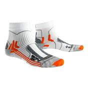 НоскиТермобелье<br>X-Socks Marathon Energy - специальные носки для длительных тренировок и марафонов. Эта модель разработана учеными совместно с ведущими спортсменами. Носки благодаря компрессии поддерживают мышцы и связки в тонусе, снижая риск растяжения/травм. Разные зоны плотности улучшают кровообращение и поступление питательных веществ к мышцам, снижая их усталость и время восстановления при нагрузках. Особые канальцы Air-Conditioning Channel обеспечивают отличную вентиляцию.<br><br>Технические характеристики:<br><br>• Состав: 27% полиамид Skin Nodor®, 26% полиамид/нейлон, 18% полиэстер Robur®, 17% полипропилен Mythlan®, 12% эластан.<br>• Self-adjusting cuff: широкие эластичные манжеты с оптимальным прилеганием к телу без сползания и лишней компрессии.<br>• Air-Conditioning Channel: система вентиляционных каналов, пронизывающих ткань носков. Они соприкасаются с кожей, отводя/перераспределяя влагу/пот и обеспечивают циркуляцию воздуха.<br>• Air Guides: соприкасаются с каналами Air-Conditioning Channel, обеспечивают циркуляцию воздуха.<br>• Toe Protector: усиленная ткань плотно обхватывает область пальцев и препятствует возникновению мозолей и натирания.<br>• Heel Protector: усиленная ткань плотно обхватывает область пятки и препятствует возникновению мозолей и натирания.<br>• ToeTip Protector: специальная ассиметричная вязка в области кончиков пальцев снижают давление в этой области.<br>• Anatomically shaped footbed: разделение на правый и левый носок.<br>• Traverse AirFlow Channel System: особые каналы в зоне стопы, которые перераспределяют нагретый и влажный воздух в Air-Conditioning Channel, регулируя тем самым комфортную температуру, без перегрева и переохлаждения.<br>• Lambertz-Nicholson Achilles Tendon Protector: защитная ударопоглащающая вставка с двух сторон ахиллова сухожилия.