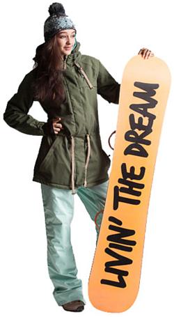 Купить Куртка сноубордическая POWDER ROOM 2013-14 X5 CHURCH JACKET Olive, Одежда сноубордическая, 1023472