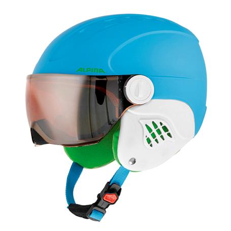 Купить Зимний Шлем Alpina CARAT L.E. VISOR HM blue matt, Шлемы для горных лыж/сноубордов, 1279913