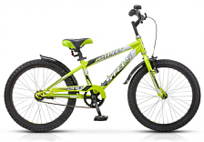 ВелосипедДо 6 лет (колеса 12-18)<br>Велосипед, предназначенный для детей в возрасте от 5 до 9 лет, без переключения передач. Технические особенности: прочная стальная рама, жесткая стальная вилка, усиленные алюминиевые обода, передний тормоз - ручной V-brake, задний - ножной, покрышки CHAOYANG H-518, пластиковые крылья. Все детали велосипеда прошли тщательную проверку на безопасность и полностью отвечают европейским стандартам качества. Подходит для обучения и легких прогулок. <br><br>&amp;nbsp;&amp;nbsp; Диаметр колес 20 дюймов, вес - 12,2 кг.<br><br>Производитель:&amp;nbsp;&amp;nbsp;&amp;nbsp;&amp;nbsp;STELS<br>Диаметр колес:&amp;nbsp;&amp;nbsp;&amp;nbsp;&amp;nbsp;20<br>Цвет:&amp;nbsp;&amp;nbsp;&amp;nbsp;&amp;nbsp;синий/красный, зеленый/черный<br>Размер рамы:&amp;nbsp;&amp;nbsp;&amp;nbsp;&amp;nbsp;12<br>Рама:&amp;nbsp;&amp;nbsp;&amp;nbsp;&amp;nbsp;cталь<br>Количество скоростей:&amp;nbsp;&amp;nbsp;&amp;nbsp;&amp;nbsp;1<br>Вилка:&amp;nbsp;&amp;nbsp;&amp;nbsp;&amp;nbsp;стальная, жёсткая<br>Рулевая колонка:&amp;nbsp;&amp;nbsp;&amp;nbsp;&amp;nbsp;сталь<br>Каретка:&amp;nbsp;&amp;nbsp;&amp;nbsp;&amp;nbsp;сталь<br>Шатуны:&amp;nbsp;&amp;nbsp;&amp;nbsp;&amp;nbsp;PROWHEEL, сталь<br>Втулка задняя:&amp;nbsp;&amp;nbsp;&amp;nbsp;&amp;nbsp;KT, сталь<br>Втулки:&amp;nbsp;&amp;nbsp;&amp;nbsp;&amp;nbsp;KT, сталь<br>Тормоза:&amp;nbsp;&amp;nbsp;&amp;nbsp;&amp;nbsp;передний: POWER, V-brake, алюминий, задний: ножной<br>Обода:&amp;nbsp;&amp;nbsp;&amp;nbsp;&amp;nbsp;алюминий<br>Покрышки:&amp;nbsp;&amp;nbsp;&amp;nbsp;&amp;nbsp;H-518, CHAOYANG, 20x2.125<br>Крылья:&amp;nbsp;&amp;nbsp;&amp;nbsp;&amp;nbsp;сталь<br>Педали:&amp;nbsp;&amp;nbsp;&amp;nbsp;&amp;nbsp;пластик<br>Вынос и Руль:&amp;nbsp;&amp;nbsp;&amp;nbsp;&amp;nbsp;сталь<br>Седло:&amp;nbsp;&amp;nbsp;&amp;nbsp;&amp;nbsp;Cionlli<br><br>Пол: Мужской<br>Возраст: Юниорский