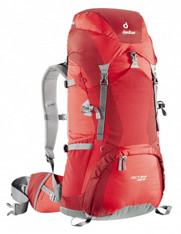 Рюкзак Deuter Aircontact Lite ACT Lite 40 + 10 fire-cranberry