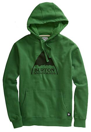 Купить Толстовка для активного отдыха BURTON 2011-12 Mens basic fleece MOUNTAIN LOGO PULLOVER HOODIE ASTRO TURF Одежда туристическая 743225