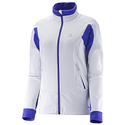 Куртка беговая SALOMON 2016-17 MOMEMTUM SOFTSHELL JKT W WH/Ph Vi