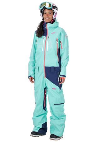 Купить Комбинезон сноубордический Picture Organic 2016-17 MOOVY SUIT B Watergreen/Dark Blue Одежда сноубордическая 1306649