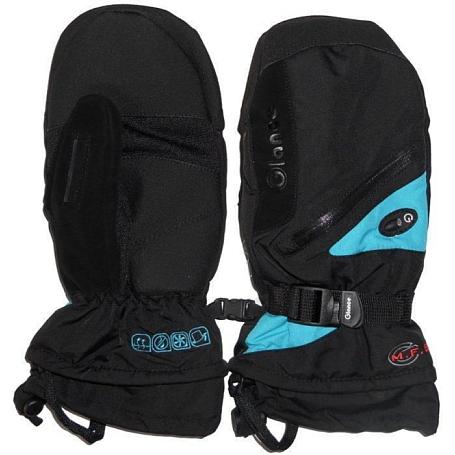 Купить Варежки GLANCE Fighter Mitten (black/turquise) черный Перчатки, варежки 723215