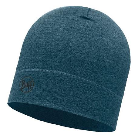 Купить Шапка BUFF MIDWEIGHT MERINO WOOL HAT OCEAN MELANGE Банданы и шарфы Buff ® 1308063