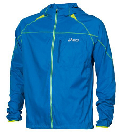 Куртка беговая Asics 2013 FUJI PACKABLE JACKET Голубой