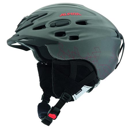 Купить Зимний Шлем Alpina ALL MOUNTAIN SCARA L.E. titanium-red silk matt, Шлемы для горных лыж/сноубордов, 1131044