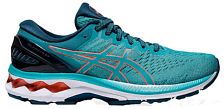 Беговые кроссовки Asics Gel-Kayano 27 Techno Cyan/Sunrise Red