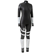 Комплект беговой Bjorn Daehlie 2018-19 Racesuit 2-piece Nations 3.0 W раздельный гоночный Black/White
