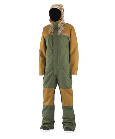 Купить Комбинезон сноубордический AIRBLASTER 2015-16 FREEDOM SUIT Olive, Одежда сноубордическая, 1216887