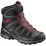 Ботинки городские (средние) SALOMON 2017-18 X-ULTRA WINTER GTX J Asphalt/Black/Radiant.r