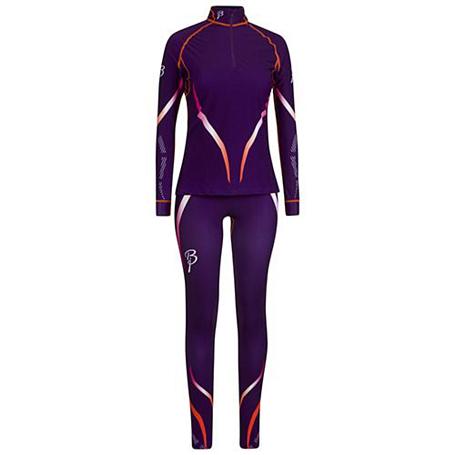 Купить Комплект беговой Bjorn Daehlie Racesuit VICTORIAN 2-piece Women Acai/Shocking Orange (т.фиолетовый/оранж), Одежда лыжная, 858412